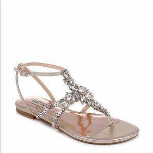 Badgley Mischka Hampden Crystal Strap Sandals